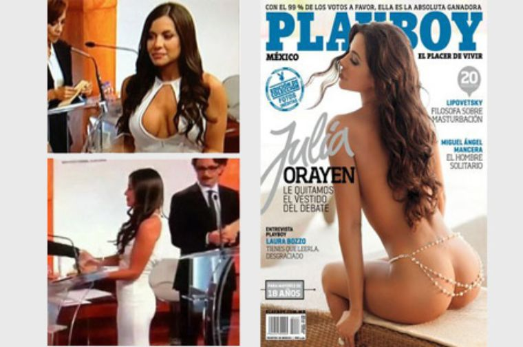 Edecán del IFE, Julia Orayen, regresa a Playboy