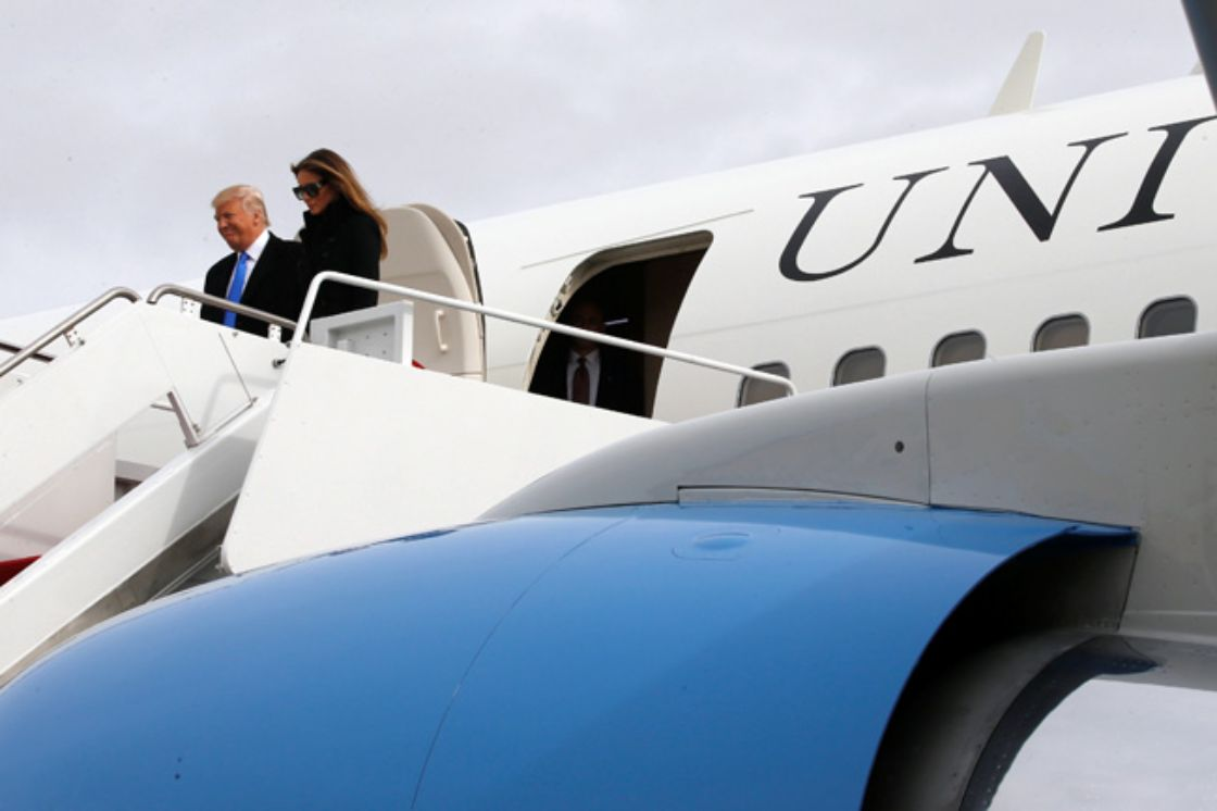 Trump llega a Washington para su investidura