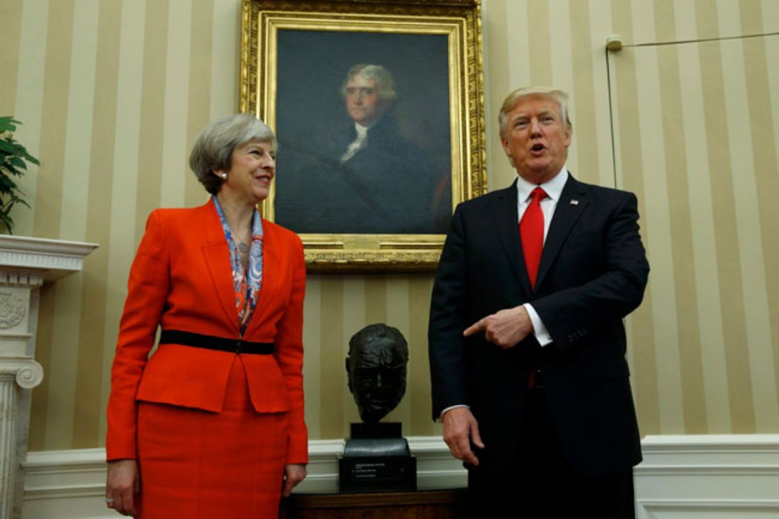 Trump respalda al 100% la OTAN: May