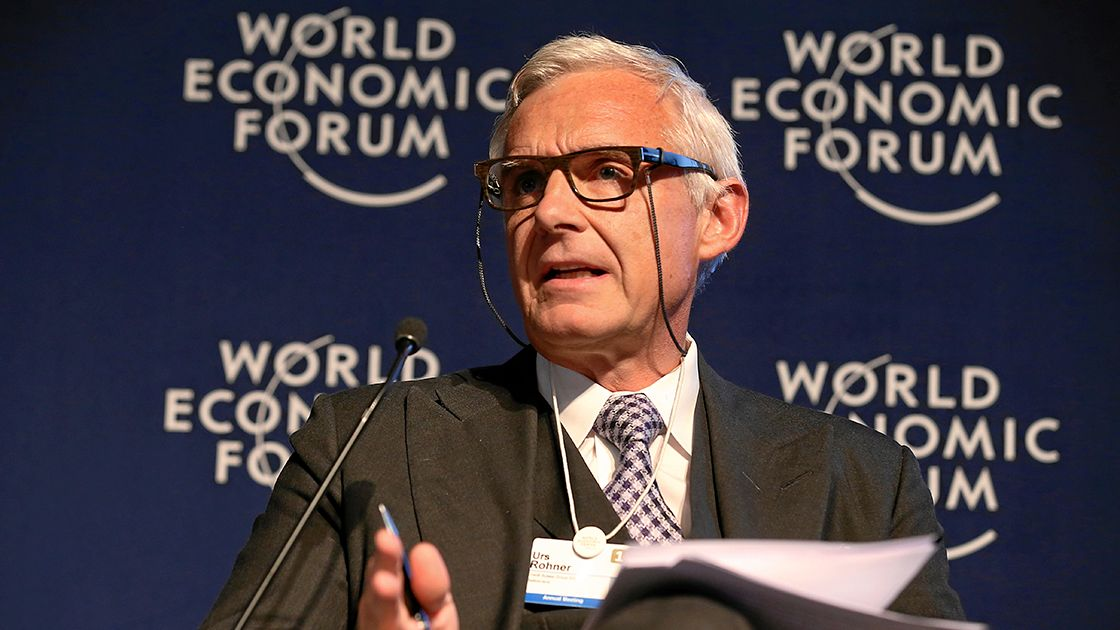 Forum Debate: Global Financial Stability: Urs Rohner - DAVOS/SWITZERLAND, 21JAN15 - Urs Rohner, Chairman of the Board of Directors, Credit Suisse Group, Switzerland  are captured during the Forum Debate