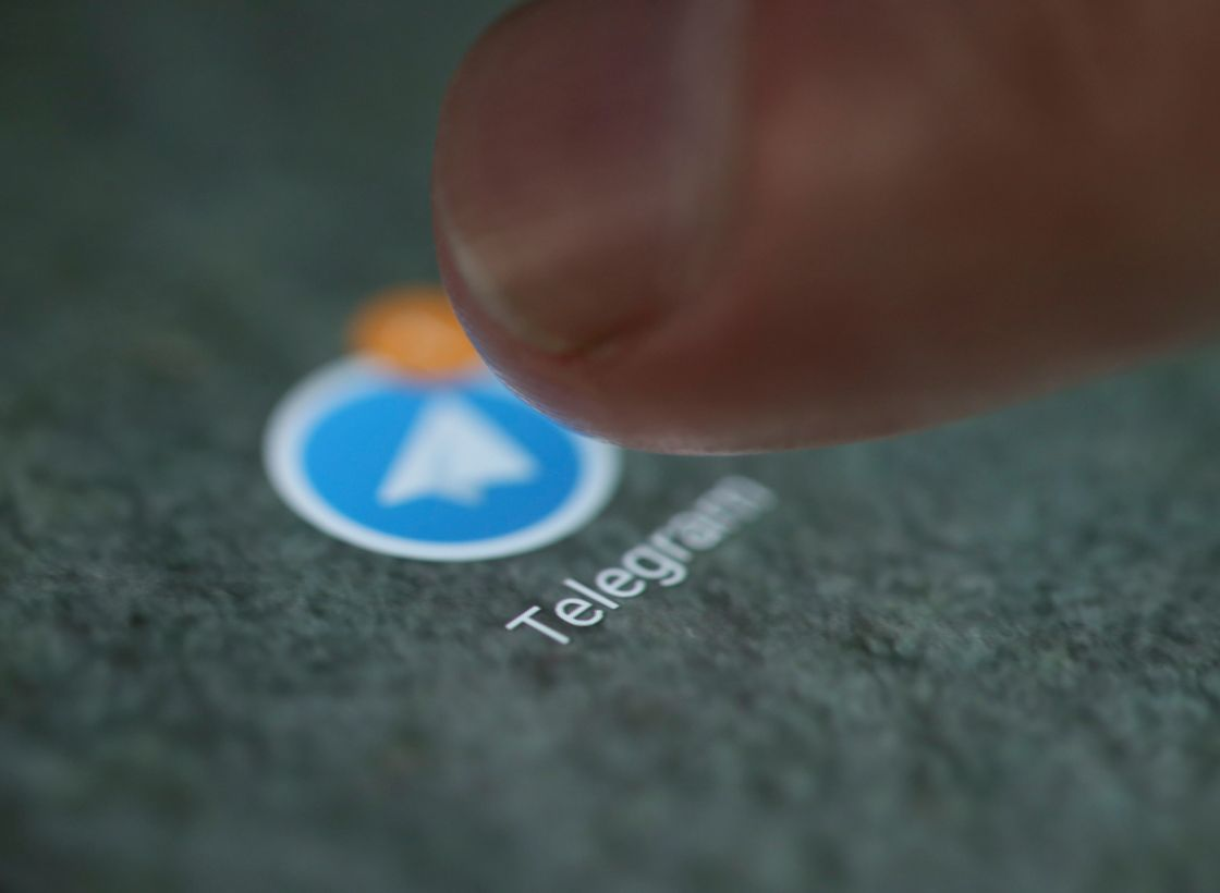 FILE PHOTO: The Telegram app logo is seen on a smartphone in this illustration - NARCH/NARCH30
