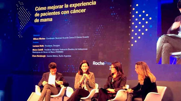 Panel en el Roche Press Day en Brasil. Foto EE: Nelly Toche