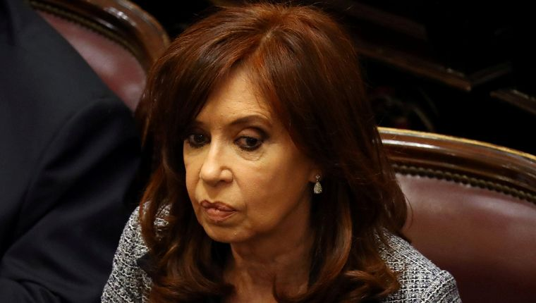 Former Argentine President and senator Fernandez de Kirchner attends a session at the Senate in Buenos Aires