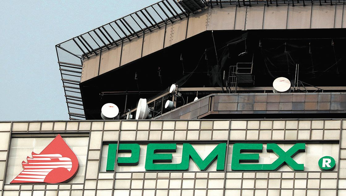 The Pemex logo is seen at its headquarters in Mexico City, Mexico